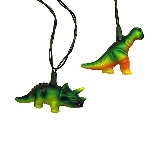 Kurt Adler UL 10-Light T-Rex and Styracosaurus Light Set -
