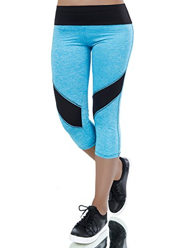 L335 Damen Hose Treggings Leggings Stoffhose Freitzeithose Röhrenhose Leggins , Farben:Schwarz-Blau;Größen:L/XL