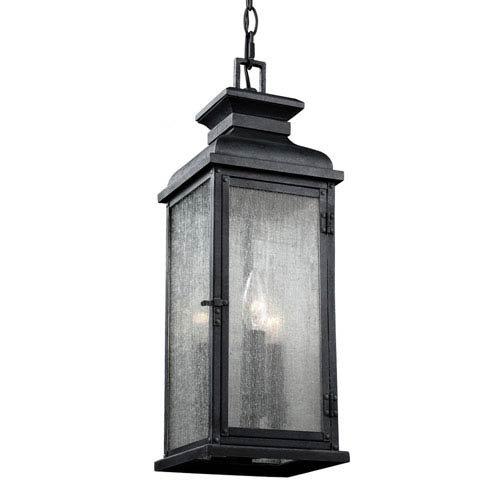 Mill & Mason Wright Dark Weathered Zinc Three-Light Outdoor Pendant - Wright 3 Light Pendant