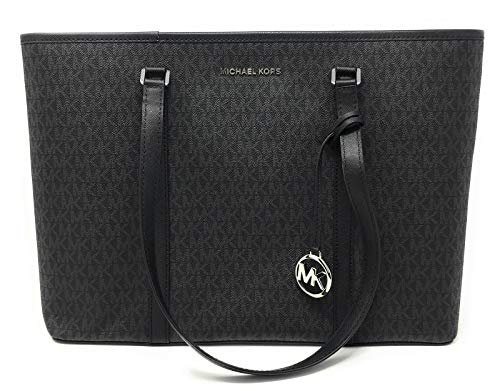 Michael Kors Large Sady Carryall Shoulder Bag (MK Print/Black)