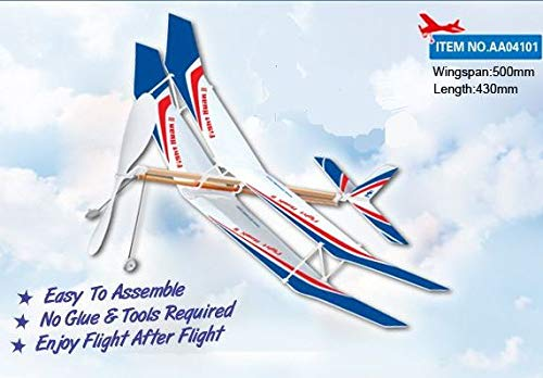 Sky Touch II Rubber Band Elastic Powered Glider Plane Kit Flying Model Toy by Amazonas presentz