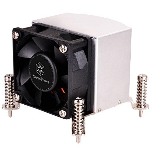 SilverStone Technology AR09-115XS 2U Rackmount Server/Small Form Factor Intel CPU Cooler with Screw Bracket ()