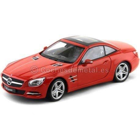 2012 Mercedes-Benz SL500 (R231) Coupé Rojo Metalizado 1:18 Welly 18046