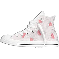 NAFQ Watermelon Pieces Cartoon Classic Canvas Sneakers Shoes Lace Up Unisex High Top