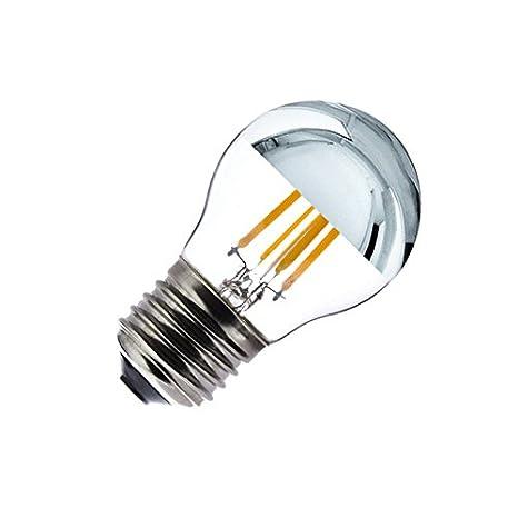 Bombilla LED E27 Regulable Filamento Reflect G45 3.5W efectoLED: Amazon.es: Iluminación