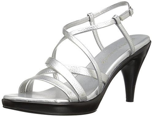 Athena Alexander Women's Gabrielaa Dress Sandal, Silver, 7 US/7 M US (Athena Alexander Leather Sandals)
