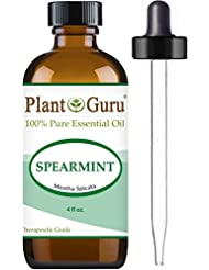 Spearmint Essential Oil 4 oz. 100% Pure Undiluted Therapeutic Grade For Aromatherapy Diffuser, Promotes Digestion, Great For Focus and Concentration