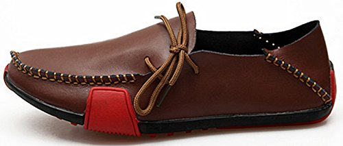 Genuine ECOTISH On Brown Slip Shoe Men's Over Drive Breathable Leather Walking Loafer 6dxqTwdR