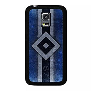 Samsung Galaxy S5 Mini Cover Shell,Hamburger Sportverein Logo Phone Case Snap on Samsung Galaxy S5 Mini Vintage Perfect Hamburger SV Design Back Cover