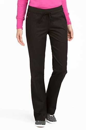 (Med Couture Signature Yoga Drawstring Scrub Pant for Women, Signature Purple/Charcoal, Small)