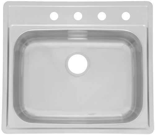 FrankeUSA SSK854NB Single Bowl Stainless Steel 21.5x22in. Topmount Sink by Franke USA by FrankeUSA