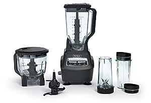 Ninja Mega cocina sistema Batidora y procesador de alimentos con Nutri Ninja tazas - bl770 Reacondicionado (Renewed)