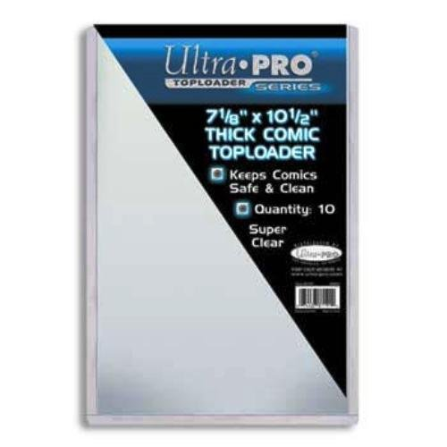Ultra Pro 7-1/2'' X 11'' Thick Comic Toploader 10ct