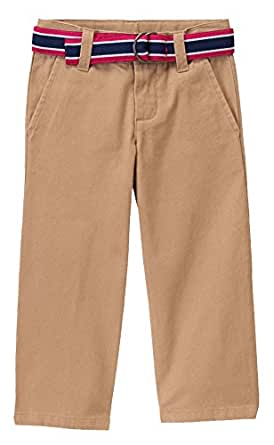 Janie and Jack Twill Khaki Belted Pants (6-12 M)