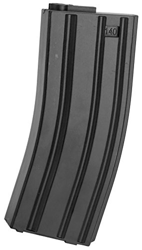 - Evike 6mmProShop 140rd Midcap Magazine for M4 M16 Series Airsoft AEG Rifles - Black - (55084)