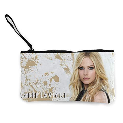l Lavigne Casual Wallet Coin Purse Canvas Zipper Money Card Pouch Wallet for Shopping ()