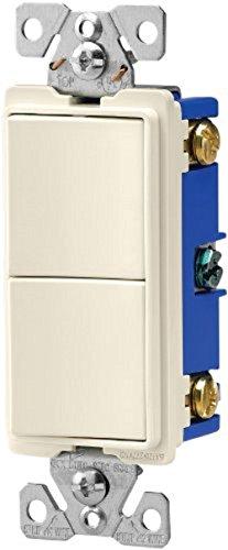 - Eaton 7728LA-SP 15-Amp 120-Volt Decorator Heavy Duty Grade Two Single-Pole Combination Switches, Light Almond