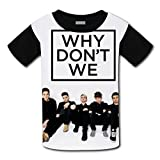 Zezeyaa Unisex Kids Why Don't We 3D Printed Round Collar Short Sleeve T- Shirt