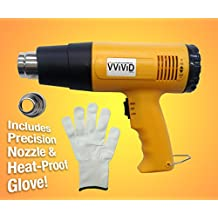 VViViD Professional Heat Gun Multi-Purpose Household Tool Including Precision Nozzle and Heat-Proof Applicator Glove