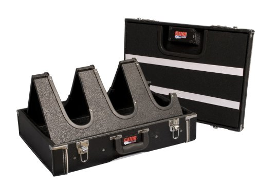 Gator Cases Compact Wooden 3 Guitar Stand and Pedal Board (Black)