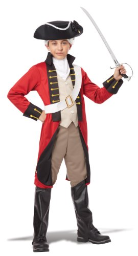 California Costumes British Redcoat Child Costume, (Colonial Boy Child Costume)