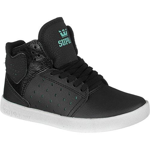 Supra Kids Atom Sneaker Black/Atlantis Black White