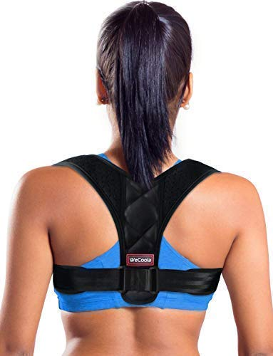 Premium Posture Corrector for Women and Men, Relieves Upper Back Shoulders Pain, Corrects Slouching, Hunching Bad Posture, Clavicle Support Adjustable Posture Brace (Small Size)