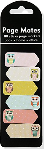 Owls Page Mates (Set of 180 Sticky Notes)