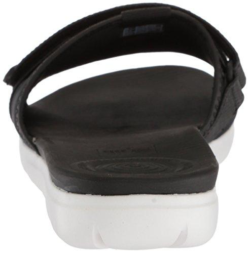 Sandales Gris Femme Black Slide Bout Argenté 231 Ouvert Neoflex FitFlop wCFq4OE