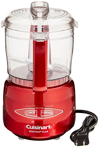 Cuisinart DLC-2AMR Mini-Prep Plus Processor, Metallic Red
