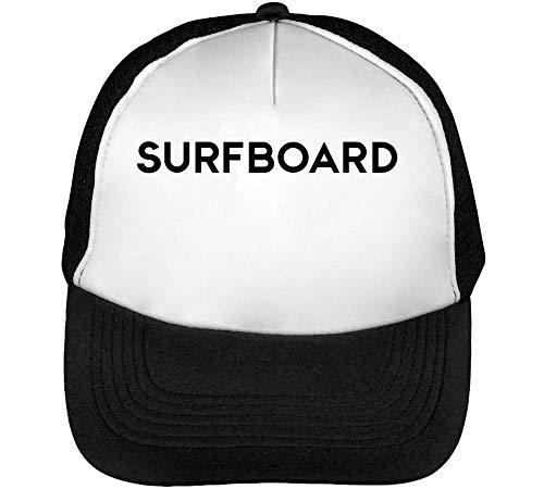 Negro Hombre Beisbol Blanco Gorras Snapback Sufrboard qpwZ5I1wx