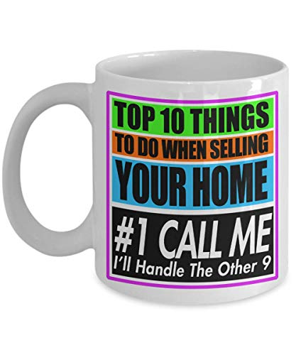 Best Realtor Real Estate Agent Mug | Top Ten Things To Do When Selling Your Home | Agency Seller Agents Gift Spacious 15oz or Cozy 11oz Ceramic Cup
