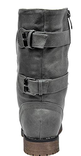 Lace grey Winter Booties PAIRS up Combat Women's Boots New DREAM Terran HqwIgvp