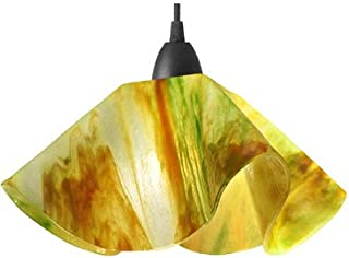 product image for Jezebel Signature Lily Track Lighting Pendant Small. Hardware: Nickel. Glass: Buttercup