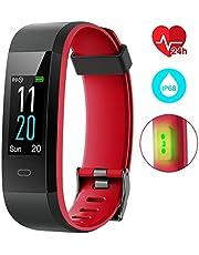 EUMI Smartwatch Reloj Inteligente Deportivo Pulsera Actividad Inteligente IP67 Duración Batería 15-18 días 8.5mm Espesor Cronómetro Podómetro Monitor de Calorías y Sueño SMS SNS para iOS y Android