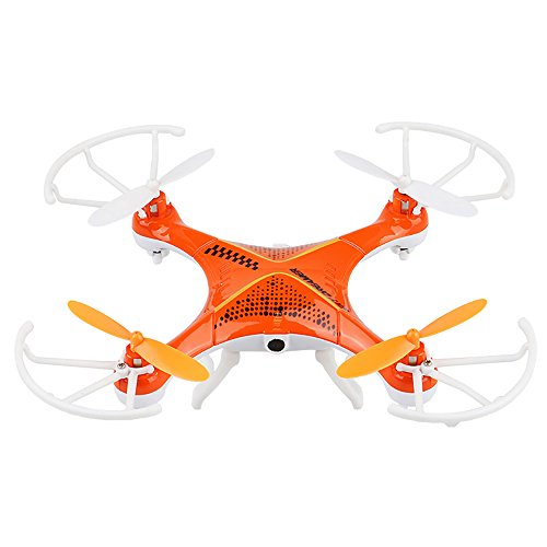 Top Quality Top Flyer Cyclone Remote Control Quadcopter RC Drone 2.4GHz 4-Channel with Gyroscope 360 Degree Flips with camera, Long Flight Distance and Flight Time, Light Weight, Great Fun (Radio Cyclone Flyer)