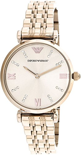 (Emporio Armani Women's 'Dress Quartz Stainless Steel Casual Watch, Color:Pink (Model: AR11059))