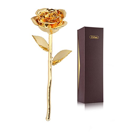 Premium Long Stem Real Rose Dipped in 24k Gold