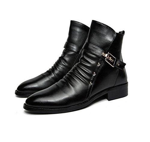 botas de otoño e invierno botas de Caballero Martin botas masculinas versión coreana de las botas de los hombres ocasionales Black