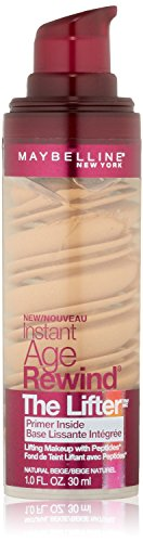 (2 Pack)-Maybelline New York Instant Age Rewind The Lifter Makeup, Natural Beige, 1 Fluid Ounce each