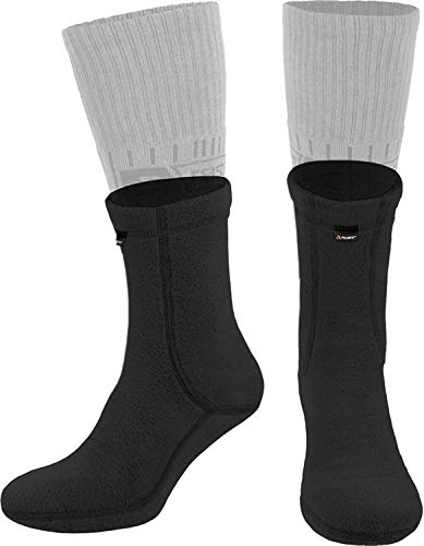 281Z Hiking Warm Liners Boot Socks - Military Tactical Outdoor Sport - Polartec Fleece Winter Socks (Large, Black)