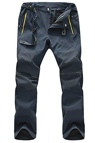 Rock Climbing Pants for Men Hiking Pants Quick Dry Pants Spring Pants Breathable Pants Travel Pants Mountain Pants with Belt