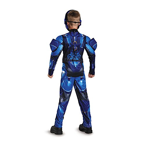 Blue Spartan Classic Muscle Halo Microsoft Costume, Large/10-12