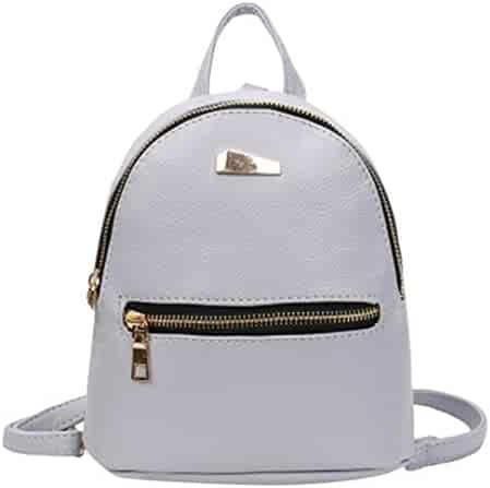 Duseedik Women Leather Backpack Girls School Rucksack College Shoulder  Satchel Travel Bag Fashion Mini Cute Portable e1fb9422a8bdb