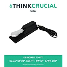 Casio Sustain Pedal Fits CTK-2080, CTK-2100, CTK-2200, CTK-2300 & CTK-3000 Keyboards, Designed & Engineered by Think Crucial