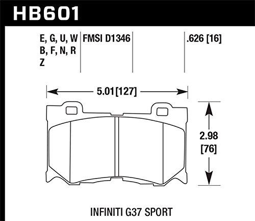 Hawk Performance HB601G.626 Disc Brake Pad, Front by Hawk (Image #2)