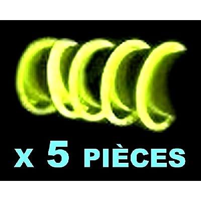 Mondial-fete - 5 Bracelets fluo jaunes