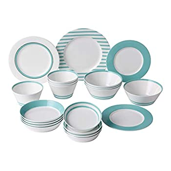 Image of Dinnerware Sets Hankook Chinaware Bone China Breeze Home Set 20p, Dinner Set Service for 6
