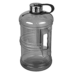 3 Liter BPA-Free Water Bottle with Stainless Steel Cap - Black