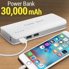 Cargador externo Power Bank 30000 mAh portátil para PC, Tablet ...